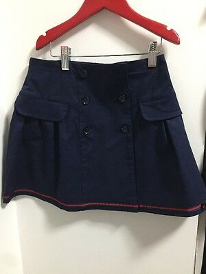 Girls Authentic Navy Blue Gucci Skirt. Size 8