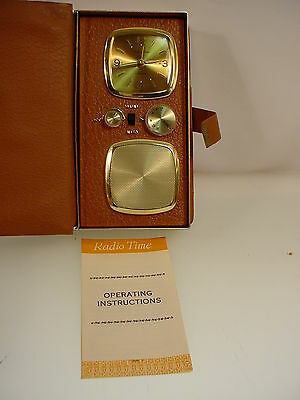 Vintage Kenton Radio Time Transistor Radio Travel Clock W- Manual Works Well