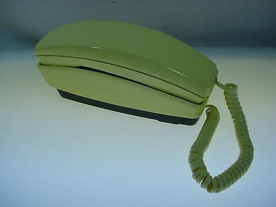 Vintage Retro Canary Yellow Slimline Dial Telephone Microtel -Very Clean - Works