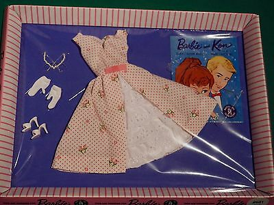 Barbie GARDEN PARTY # 931 Outfit 1962 VINTAGE Repro NRFB Pink Striped Box