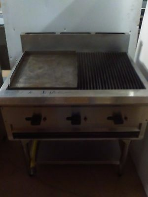 Moffat G59-6 Commercial Hot Plate/ Gas Griddle and Char Grill