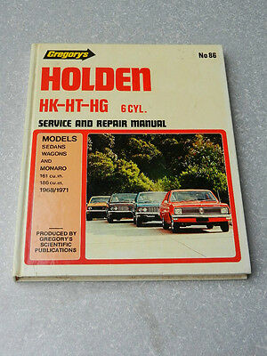 GREGORY'S Service & Repair Manual HOLDEN HK-HT-HG 6 Cyl. H/C