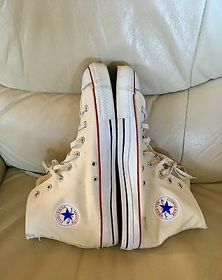 Made In Usa Vintage 80 Converse Chuck Taylor Unbleached White Canvas 14 Usa