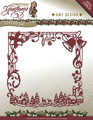 Find It Trading Christmas Greetings Frame die (Amy Design) ADD10065