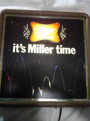 Vintage 1982 Its Miller Time Miller Beer Motion Bouncing Balls Lighted Beer Sign