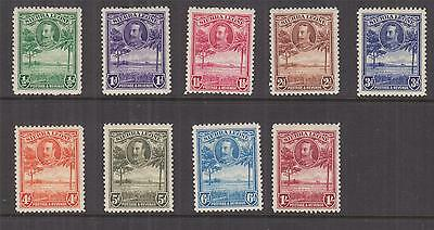 SIERRA LEONE, 1932 KGV set of 9 to 1s., lhm.