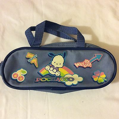 Vintage Sanrio 2002 pochacco dog pencil case/bag pouch with handle