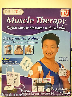 Dr Ho Muscle Therapy Digital Muscle Massager w/ Gel Pads Pain Relief Therapeutic