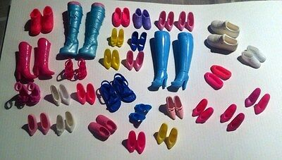 Barbie Dolls Shoes Sandals Boots Lot Of 30 Pairs