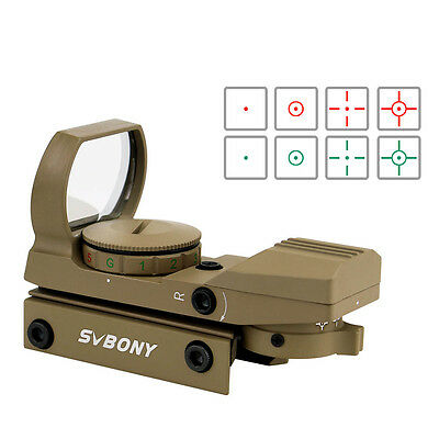 SVBONY Green&Red Dot Sight 4 Reticles Reflex fit for any 20mm rail mount CO