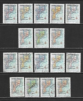 MOZAMBIQUE Early Map Issues Mint Never Hinged & Used Selection (Feb 0062)