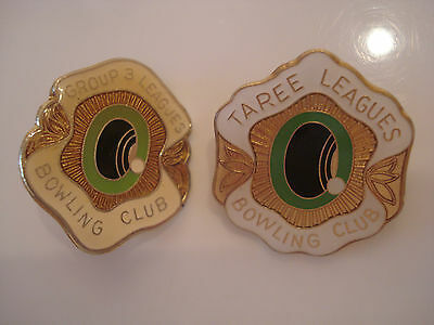 Group 3 & Taree Leagues Bowling Club Badges