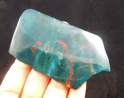 240 Cts. 100%  NATURAL BLOOD STONE SLICE ROUGH LOOSE CAB GEMSTONE (T175)