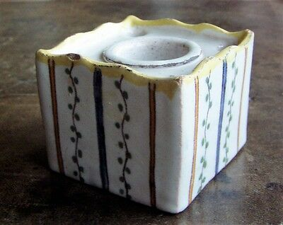 18c French Faience Inkwell - VARAGES