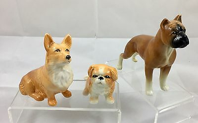 Selection Of Three Sylvac Pottery Dogs ++ All Good Condition ++
