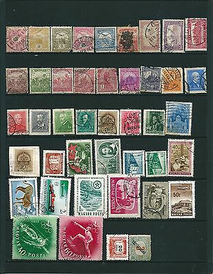 Hungary / Hongrie / Magyar 43 Timbres / Stamps With Older Obl/used