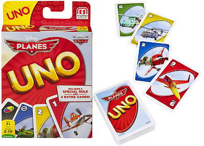 Disney Planes Uno Card Game From Mattel Games With 4 Bonus Cards Brand New Bgg50