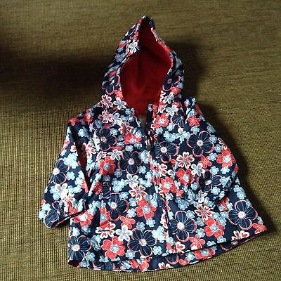 Mothercare Baby Girls Blue Floral Lightweight Coat Age 3-6 months