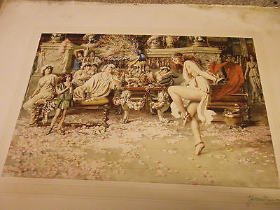 Signed Fortunino Matania The Dancer (Print) recovered from an old frame 15.5x10.