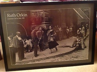 FRAMED American Girl in Italy, 1951 Art Print by Orkin, Ruth 104cmx75cm Picture