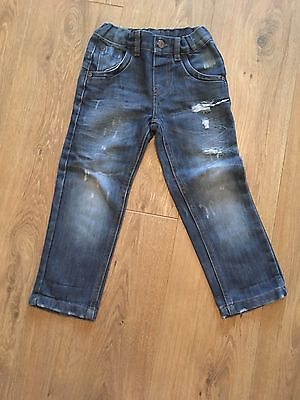 3 Pairs Of Boys Slim Fit Jeans Age 3-4 From Denim Co