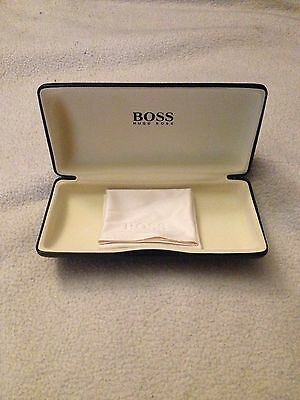 Genuine Hugo Boss Leather Glasses Case With Microfibre Cloth