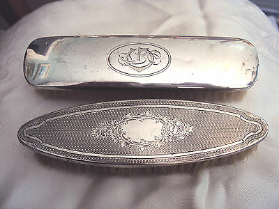 Antique Solid Silver Backed Clothes Brush 1919 & 1923