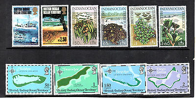 BIOT British Indian Ocean 3 Sets 1974-75 MLH & Excellent MNH