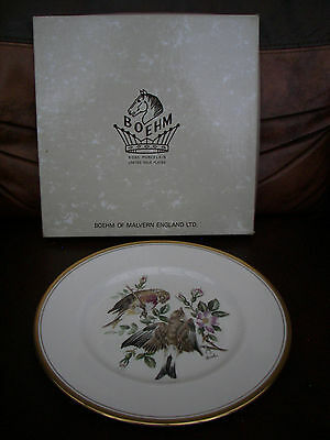 Boxed Boehm of Malvern English Collectors Plate Displaying a Pair of Linnets