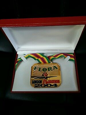 london marathon medal 2004 Flora in case in great condition