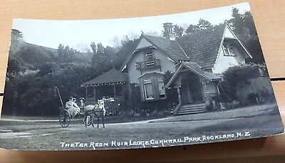 1908 AUCKLAND NEW ZEALAND RPPC Huia Lodge Cornwall Park unmailed postcard
