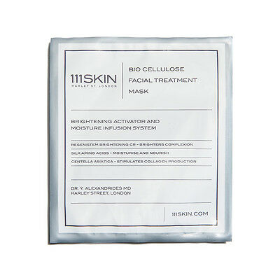 111SKIN Bio Cellulose Facial Treatment Mask Paraben Free New Sealed Authentic
