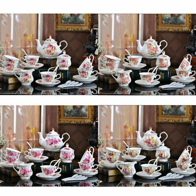 European Style High Quality Tea Set Cup Teapot Saucer Porcelain Coffee