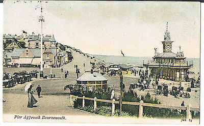 J Welch & Son Postcard Pier Approach Bournemouth 1904 No 87