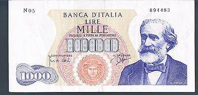 ITALY BANKNOTE 1000 P96a 1962 GVF-aEF