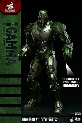 Sideshow Hot Toys Iron Man Mark XXVI GAMMA exclusive 1/6 Action Figure Sealed !