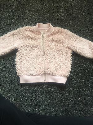 Baby Girl Pink Bomber Jacket Size 9-12 Months