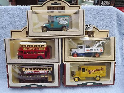 Lledo 'Days Gone' - 5 collectable die cast models of vintage vans