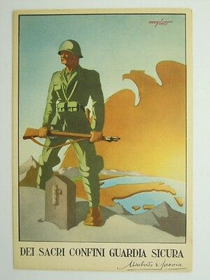 Military Guardia Alla Frontiera G.a.f.-6° Artist Signed-Vb2-S48422