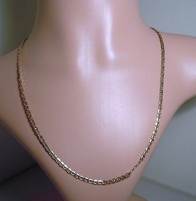 100% Genuine Vintage 9ct. Solid Yellow Gold Mariner Necklace Chain. 51.5cm