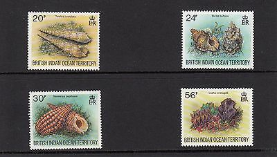 British Indian Ocean Territory 1996 Sea Shells 4v MNH