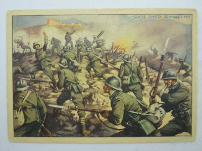 Military Infantry Italy-68 Rgt Palermo-Artist Signed-Ob2-S55647