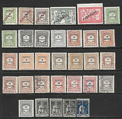 MOZAMBIQUE Early Postage Due Mint & Used Issues Selection (Feb 0068)