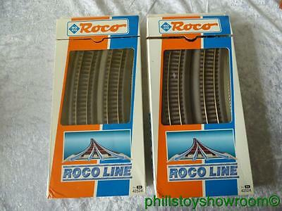 Ho Roco Line 42524 R4 Curves 2 Boxes Of 6 12 Pieces Included Vgc