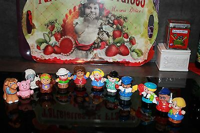 12 personnages Little People Fisher Price vintage occasion LOT 3