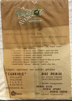 RARE!!  TRUE FRENCH VINTAGE SEAMED FULLY FASHIONED STOCKINGS  15 denier 1 pair