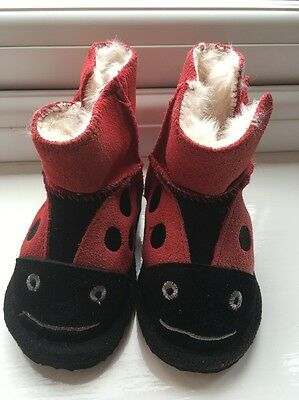 Size 4 John Lewis Ladybird Slippers, Brand New With Tags. Rrp £18