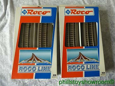 Ho Roco Line 42527 R9 Curved 2 Boxes Of 6 12 Pieces Included Vgc