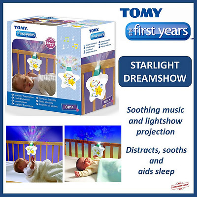 NEW Tomy Starlight Dreamshow Lullaby Baby Light Show Cot Projector Musical Gift