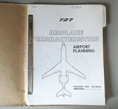 Boeing 727 Airplane Characterstics technical manual 1969